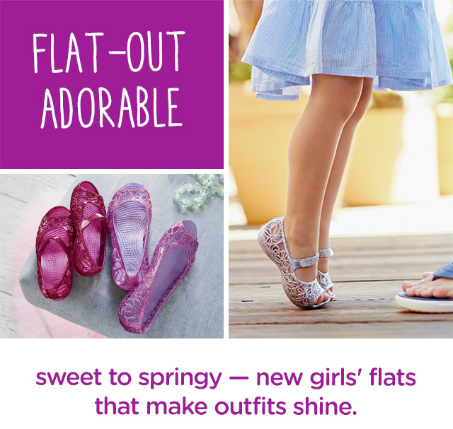 New girls' flats that make spring