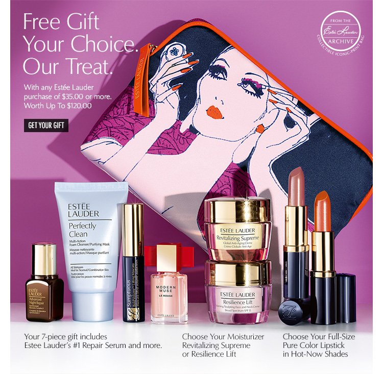 Estée Lauder: Now at Macy's: Free Gift. Your Choice. Our Treat ...
