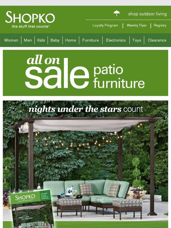 Shopko: Spring forward with new patio furniture! | Milled