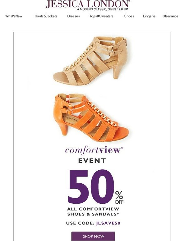 Jessica London: 50% Off All Comfortview