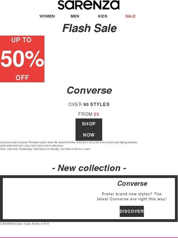 3096adfdfb4b Sarenza  Converse mania! Shop up to 50% off Chuck Taylors