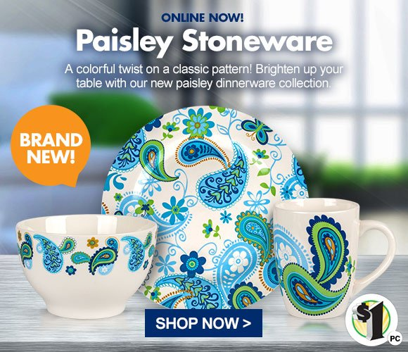New Paisley Stoneware Dinnerware - Plate Bowl and Mug Just $1 a Piece  sc 1 st  Milled & Dollar Tree: Your New Favorite Dinnerware Has Arrived | Milled