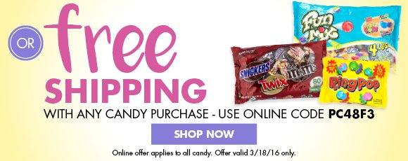 Nationwide candy coupon code free shipping
