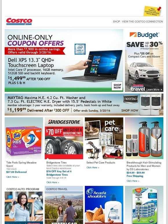 Costo: Online-Only Coupon Offers! Plus More Savings on Rental Cars, Maytag, Pet Care and More. | Milled