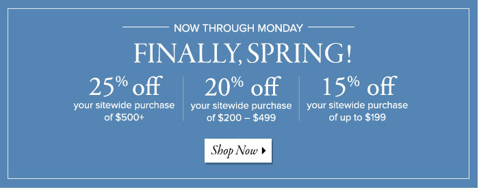 Frontgate: Finally, Spring! Celebrate and save up to 25% ...