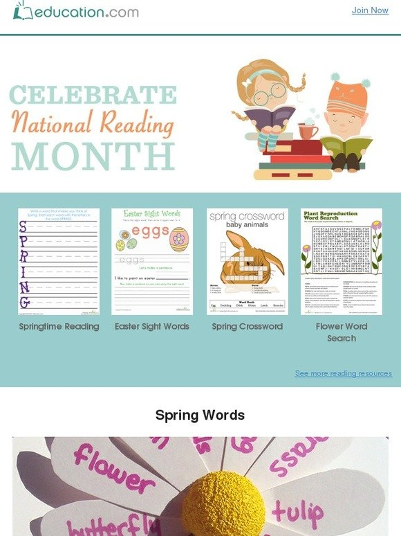 education.com: Spring into Spring Reading! Activities & Worksheets ...