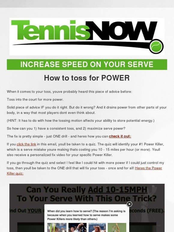 Tennis Express: How to toss for POWER on your Serve | Milled