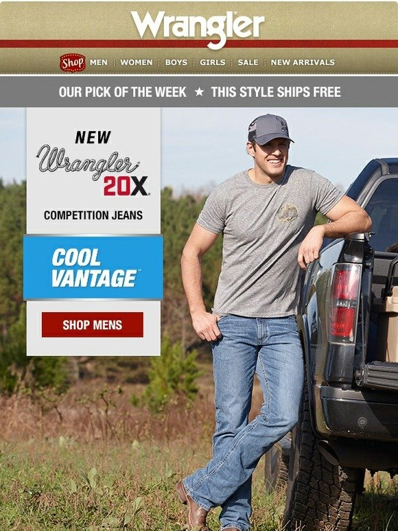 7239b351 Wrangler: New in 20X & shipping for free: Wicking Denim | Milled