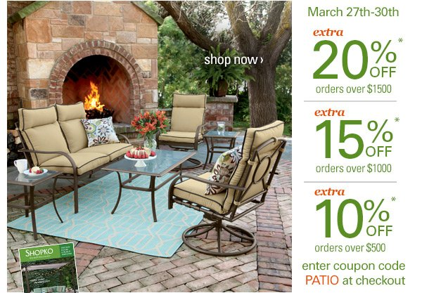 Shopko: Up to 20% off patio furniture -- Sit pretty this summer ...