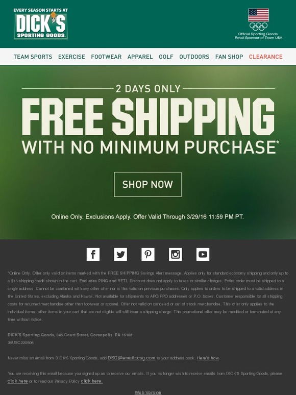Free Shipping! 2 Days Only!