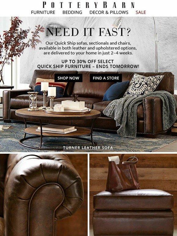 Pottery Barn: Quick Ship + ON SALE: Sofa Savings We ❤ | Milled