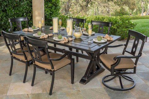 Broadway 7 Piece Dining Set Cast Aluminum Construction With Sunbrella  Fabric. $1,999.99 Delivered