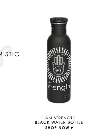 Peace Love World Karma Refillable Water Bottle In Black