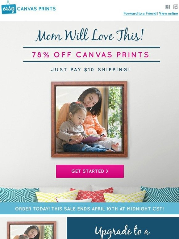 easy canvas prints free shipping code - 580×774