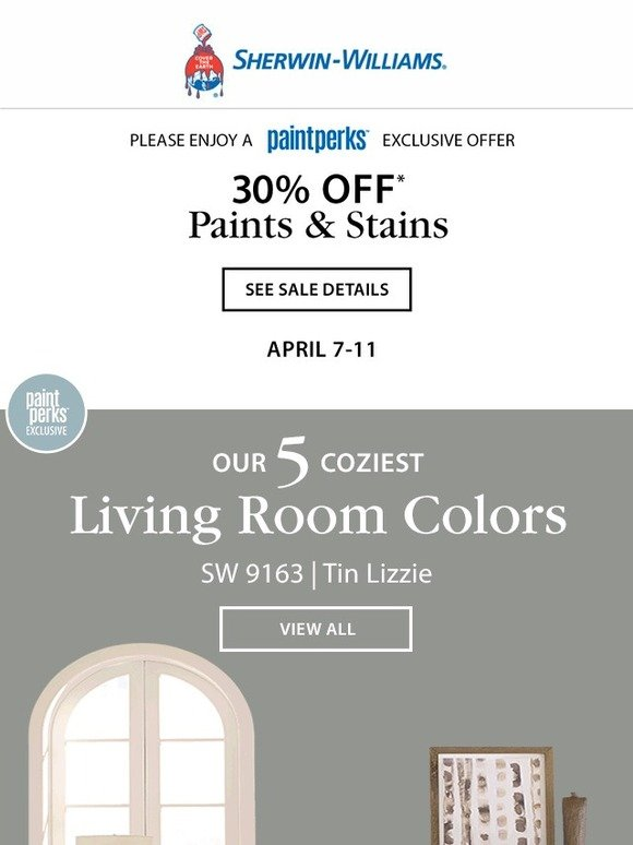Sherwin Williams Home Our 5 Coziest Living Room Colors Milled