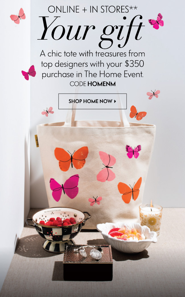 Neiman Marcus: Free tote + designer treasures: Home Event is on ...