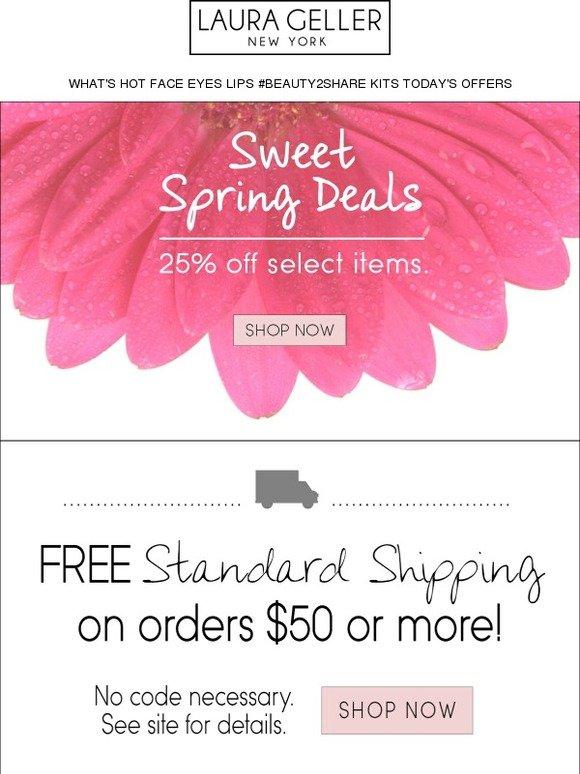63229de2 Laura Geller: Sweet Spring Deals Inside... | Milled