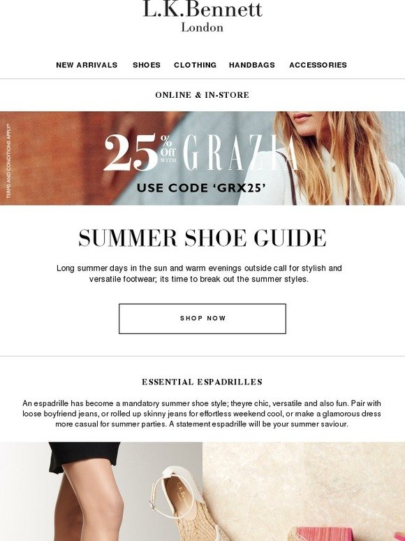 418bf71fb9bc L.K.Bennett  Style Guide to Summer Shoes + 25% Off with Grazia