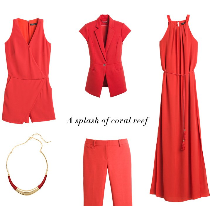 White House Black Market Colors Of The Season Coral Reef And