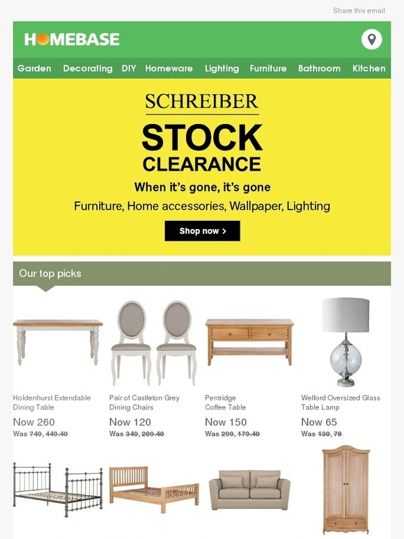 Homebase Schreiber Stock Clearance Home amp Furniture  : c2x from milled.com size 580 x 774 jpeg 80kB