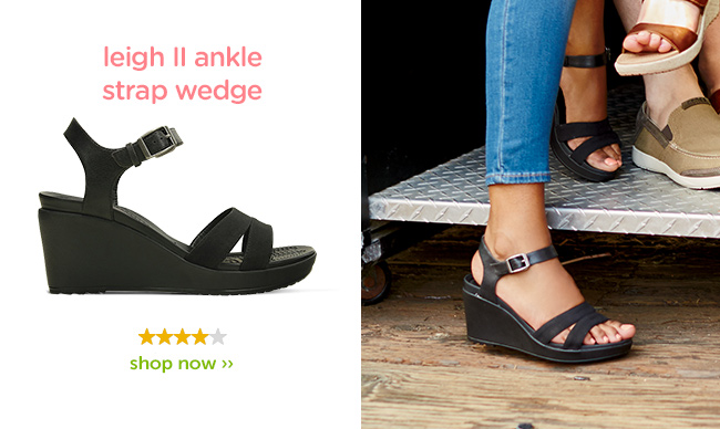 f51e2efa478 Brand New Women s Leigh II Ankle Strap Wedges