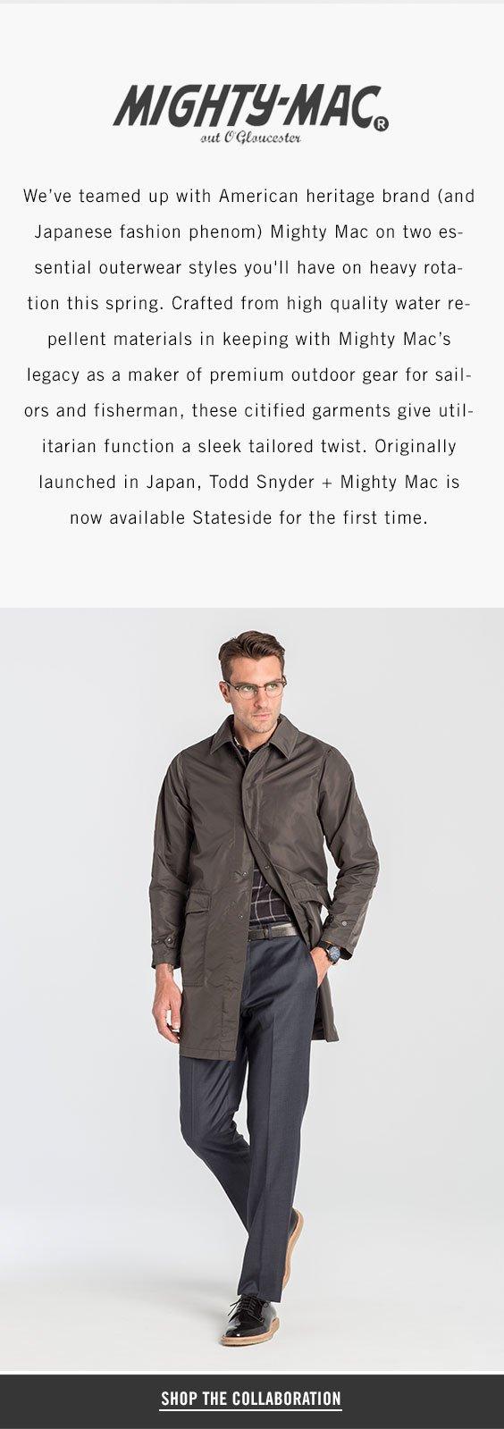 Todd Snyder: U S  Debut: Todd Snyder + Mighty Mac | Milled