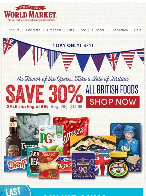 Cost Plus World Market Happy 90th Queen Elizabeth Save  : c2x from milled.com size 580 x 774 jpeg 154kB