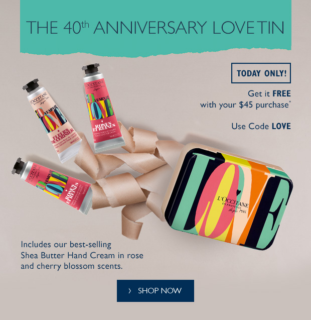 L'occitane: Ends Tonight! 40th Anniversary Tin + Save on Refills ...
