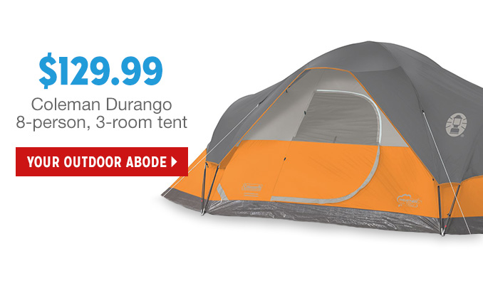 $129.99 Coleman Durango 8-person 3-room tent | YOUR OUTDOOR ADOBE  sc 1 st  Milled & kmart: ? A surprise inside... Save on Samsung HDTVs u0026 Coleman ...