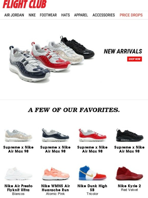wholesale dealer 49e44 ca175 Flight Club New York  Special Delivery  Supreme x Air Max 98, Highsnobiety  x adidas Campus 80s and much more...   Milled