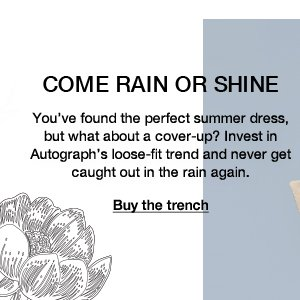 Come rain or shine: You've found the perfect summer dress, but what about a cover-up? Invest in Autograph's loose-fit trend and never get caught out in the rain again