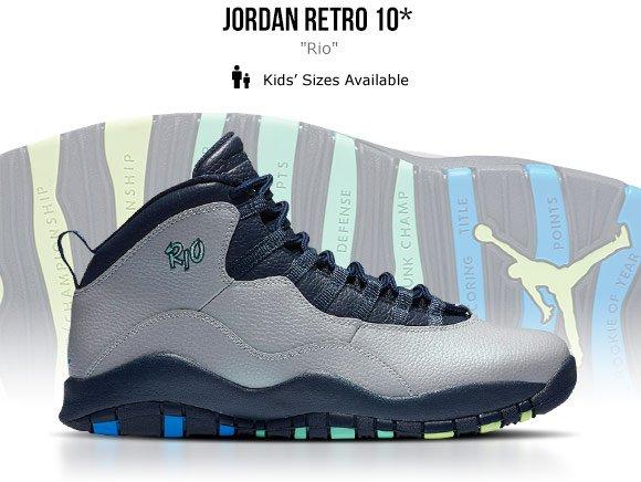 low priced 8752c ade52 Jordan Retro 10  Rio  - Foot Locker