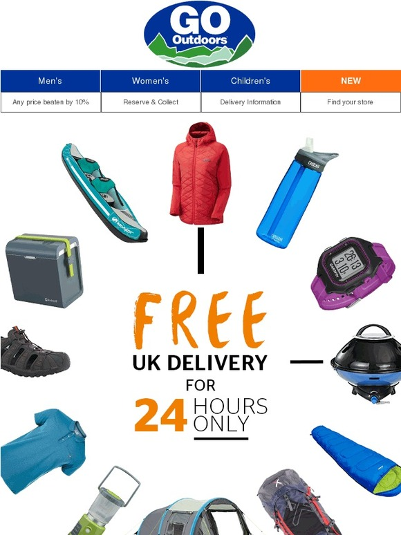A great Go Outdoors discount code Our voucher rangers are always on the lookout for the best deals and offers. Take this for example - not too long ago a 15% off everything Go Outdoors discount code caught your imaginations immediately and, chances are, it's one that'll come back at some point.