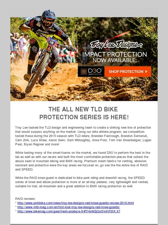 8ed40745559 Troy Lee Designs: The all new TLD Bike protection series is here | Milled