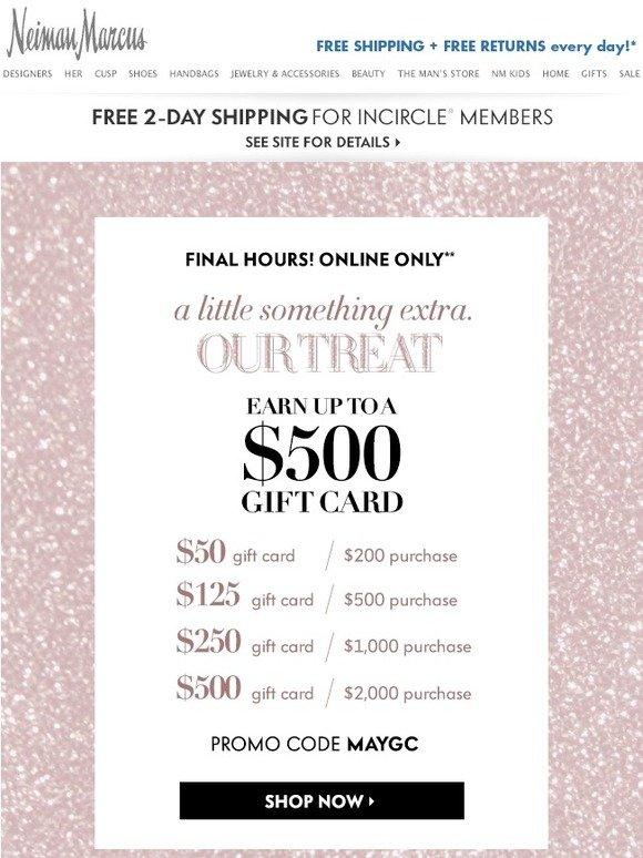 Neiman marcus gift card return policy