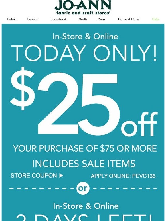 Joann coupons for today