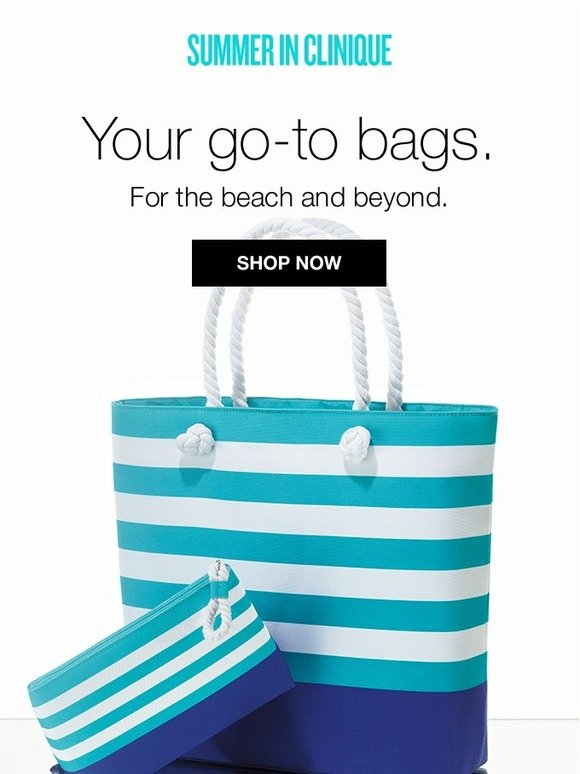 Clinique: New & nautical for summer. FREE tote, makeup bag with purchase. | Milled