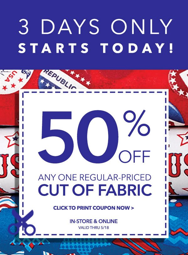 Joann Fabrics Coupons To Print 2016