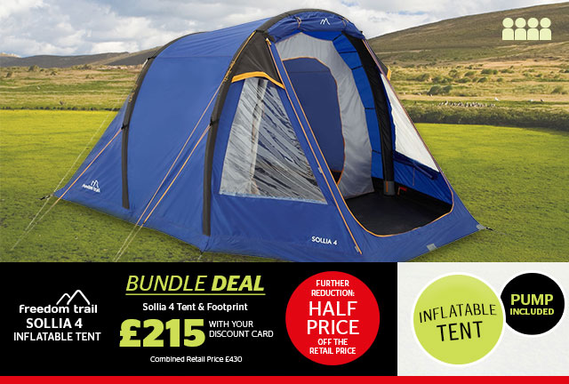 Freedom Trail Sollia 4 Inflatable Tent  sc 1 st  Milled & Go Outdoors: WOW! Up to 50% off tents u0026 camping | Milled