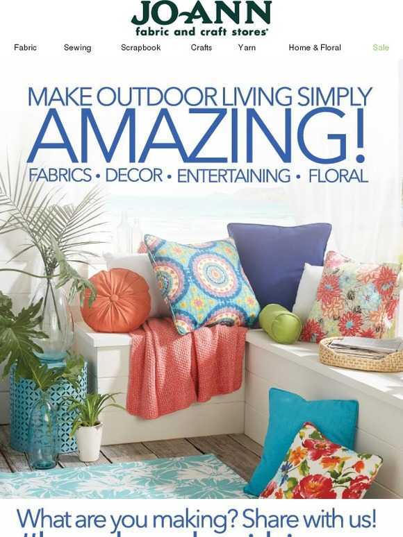 Phenomenal Jo Ann Fabric And Craft Store Enjoy The Outdoors Save Now Short Links Chair Design For Home Short Linksinfo