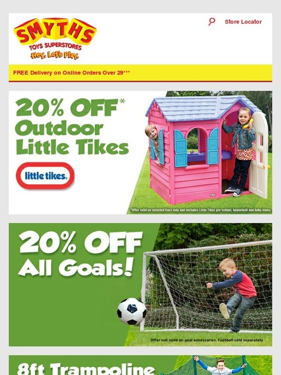 Smyths Toys Hq 20 Off Outdoor Little Tikes Amp Goals New