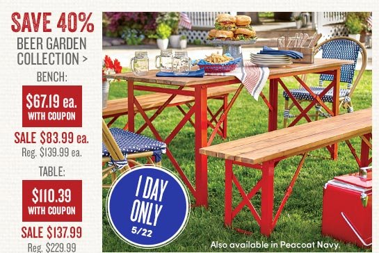 Save 40% Beer Garden Collection