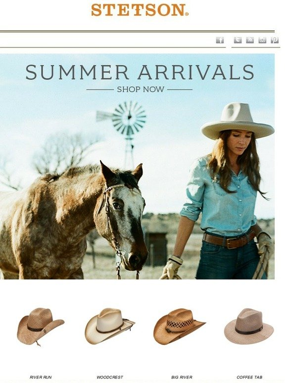 3f092908424bb STETSON  Shop Summer Arrivals Now