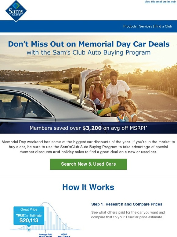 Sam'S Club Auto >> Sam S Club Member Only Savings On New And Used Cars Milled