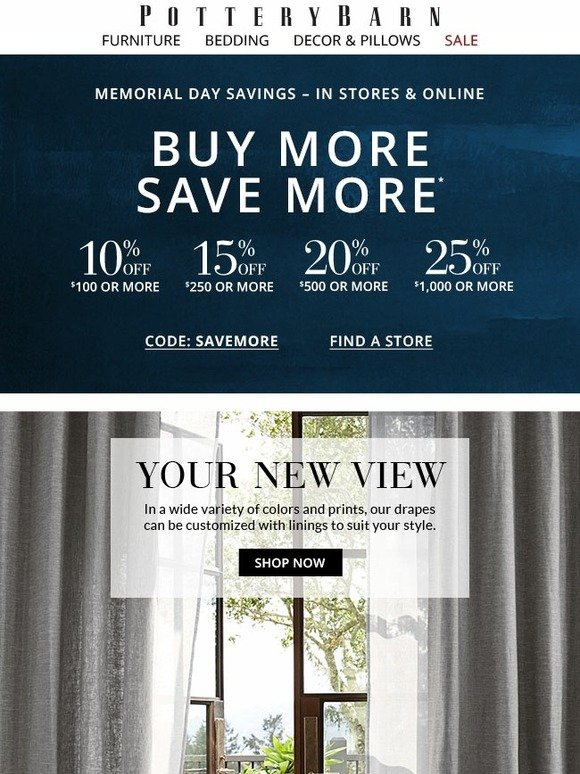 incredible Pottery Barn Savemore Part - 15: Pottery Barn: Everything you want..ALL on SALE! Buy More Save More  continues | Milled