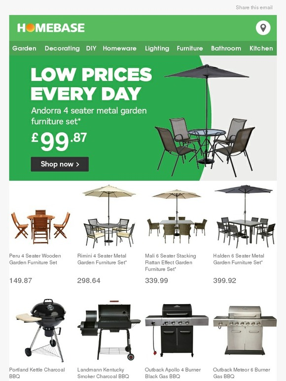 6 Seater Metal Garden Furniture Homebase bbqs garden furniture and more for the bank holiday homebase bbqs garden furniture and more for the bank holiday weekend milled workwithnaturefo