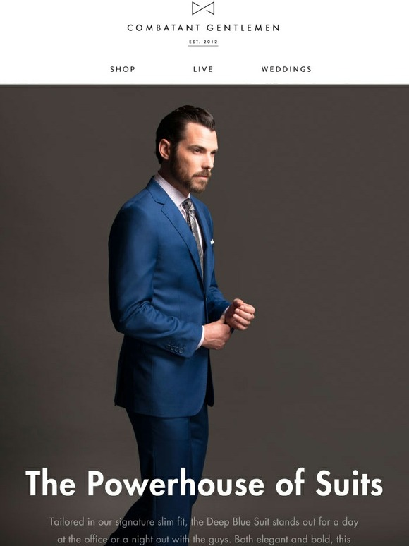 4e3869fd364d Combatant Gentlemen: The Deep Blue Suit is Back | Milled