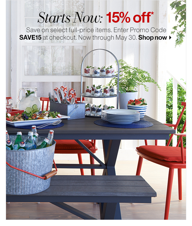 Crate And Barrel 15 Off Our Memorial Day Sale Starts Now Milled