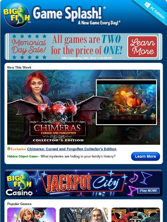 Big fish games get 2 for the price of 1 milled for Big fish games com