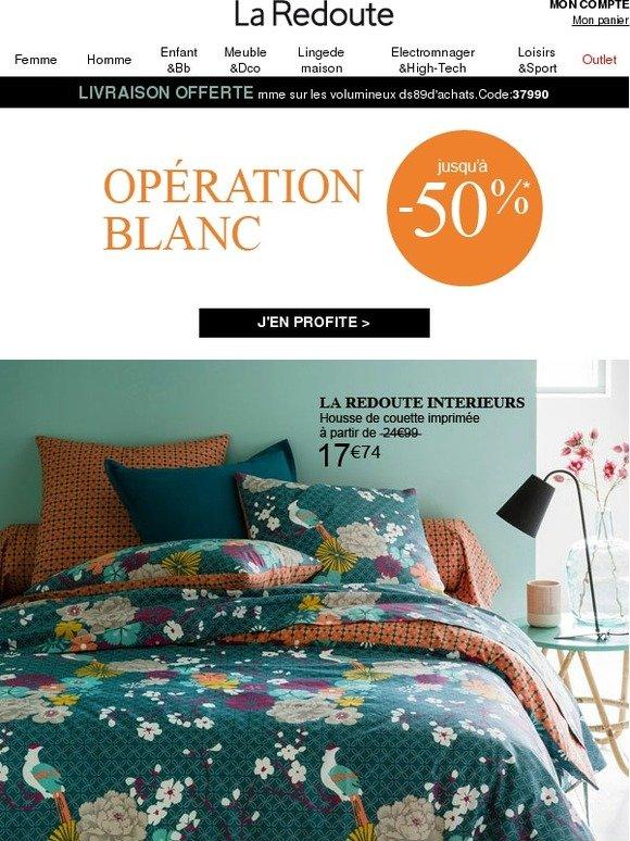 la redoute fr op ration blanc tout votre int rieur jusqu 39 50 milled. Black Bedroom Furniture Sets. Home Design Ideas